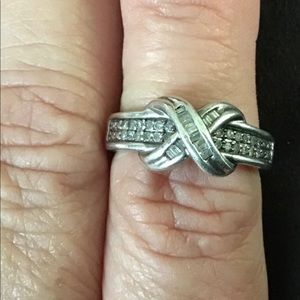 Sterling Silver & Diamond Accent INFINITY Ring
